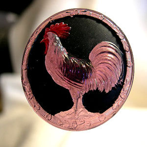 Amethyst Rooster Hatpin