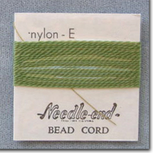 #5 Green Nylon Bead Cord