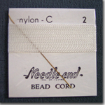 #2 White Nylon Bead Cord