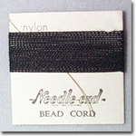 #8 Black Nylon Bead Cord