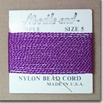 #5 Purple Nylon Bead Cord