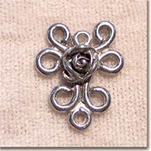 17x14mm Pewter Rose Link