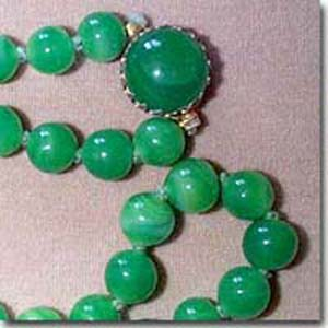 Green Marbelized Necklace
