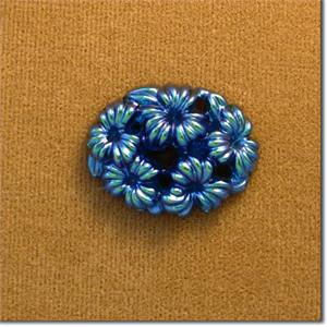 Blue Floral Stone